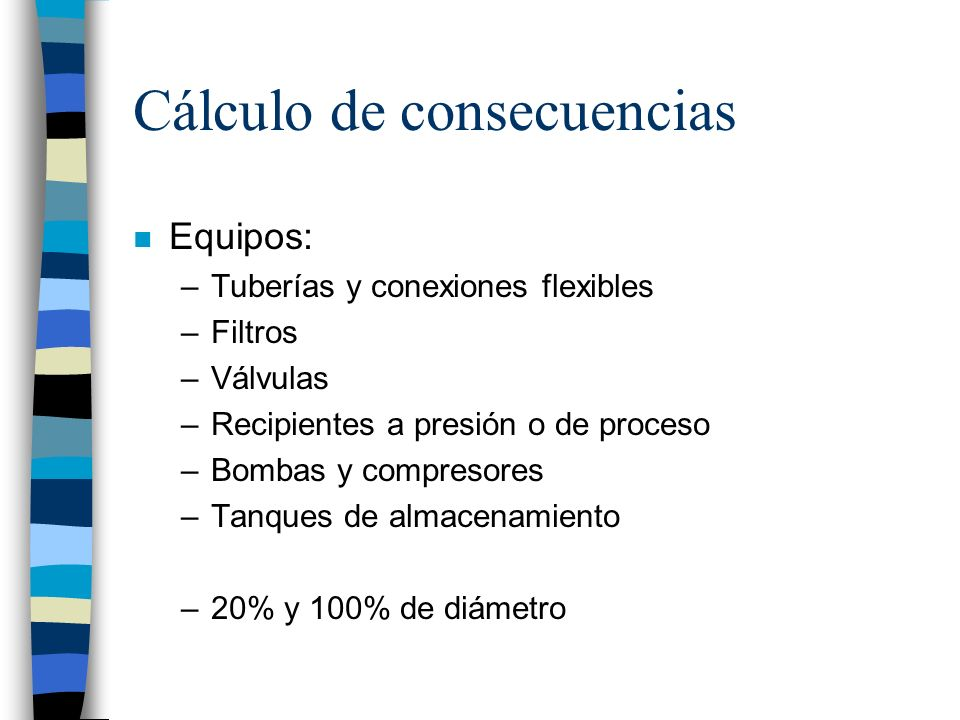 Cálculo de consecuencias