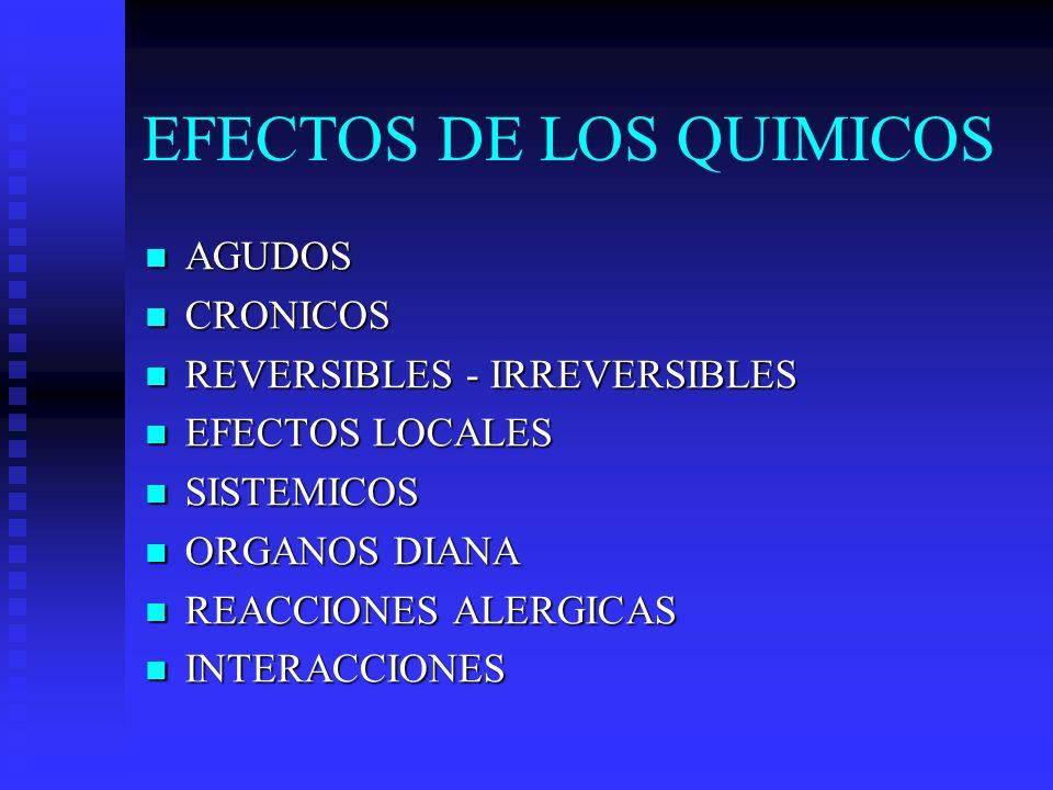 EFECTOS DE LOS QUIMICOS