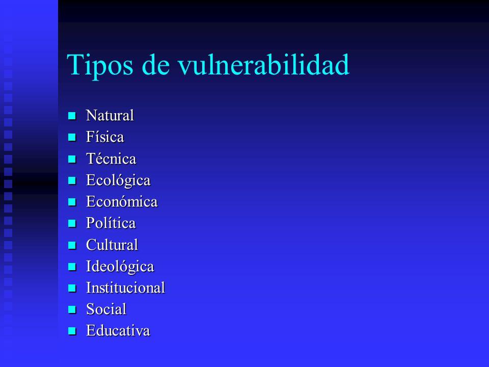 Tipos de vulnerabilidad
