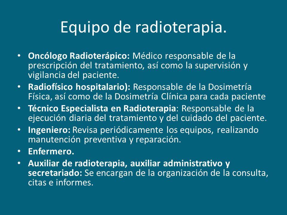 Equipo de radioterapia.