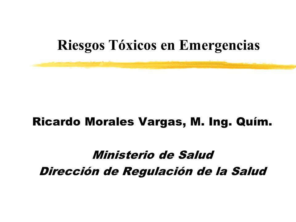 Ricardo Morales Vargas, M. Ing. Quím. Ministerio de Salud