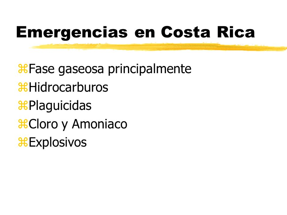 Emergencias en Costa Rica