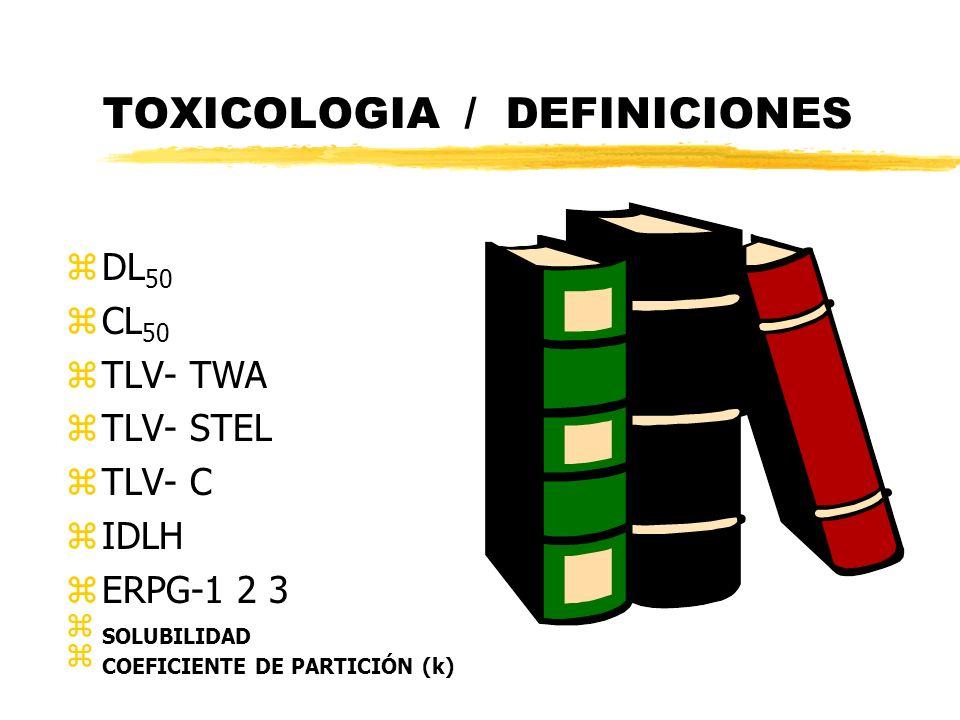TOXICOLOGIA / DEFINICIONES