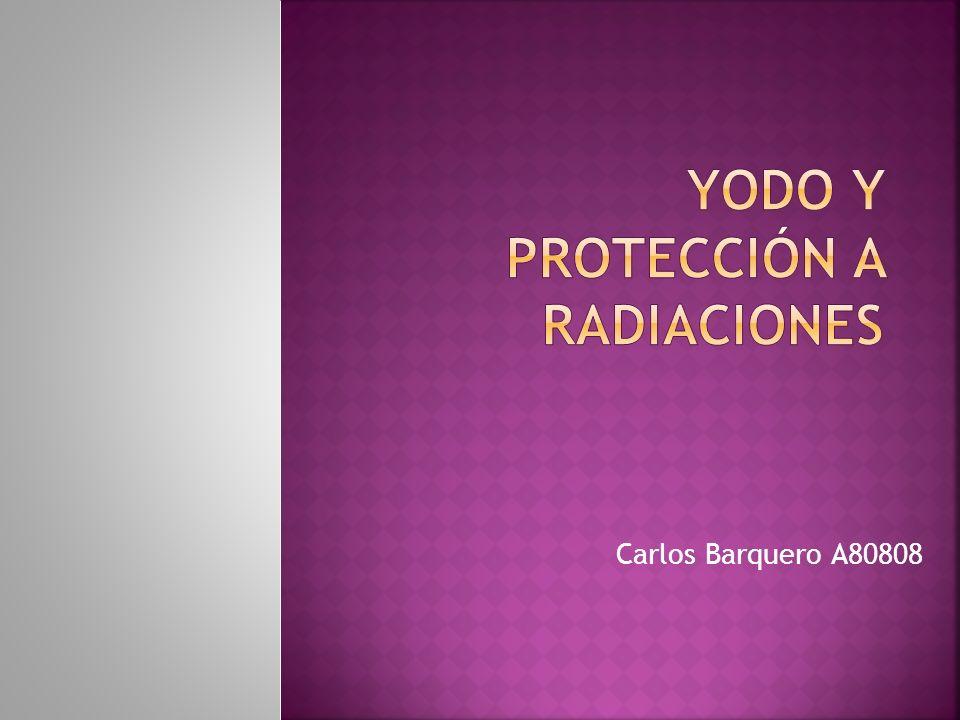 Yodo y protección a radiaciones