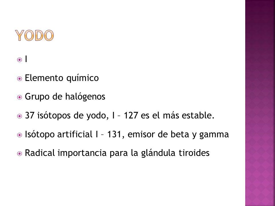 Yodo I Elemento químico Grupo de halógenos