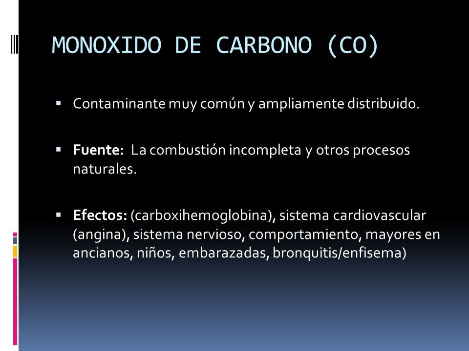 MONOXIDO DE CARBONO (CO)