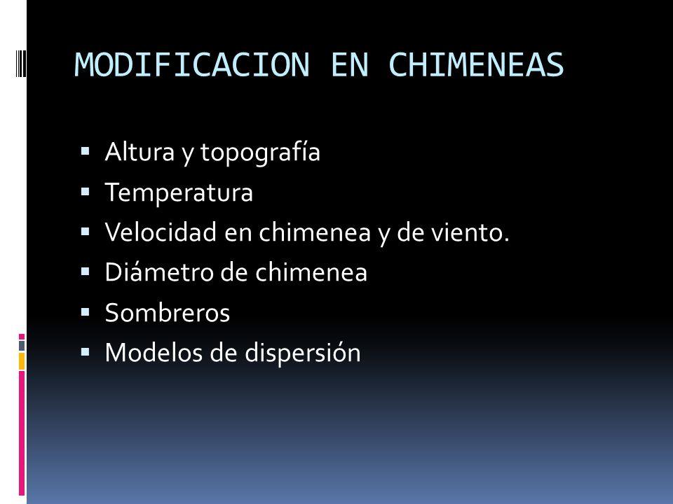 MODIFICACION EN CHIMENEAS
