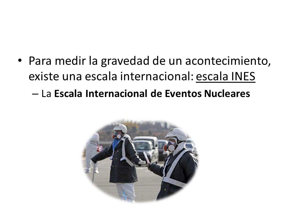 Para medir la gravedad de un acontecimiento, existe una escala internacional: escala INES