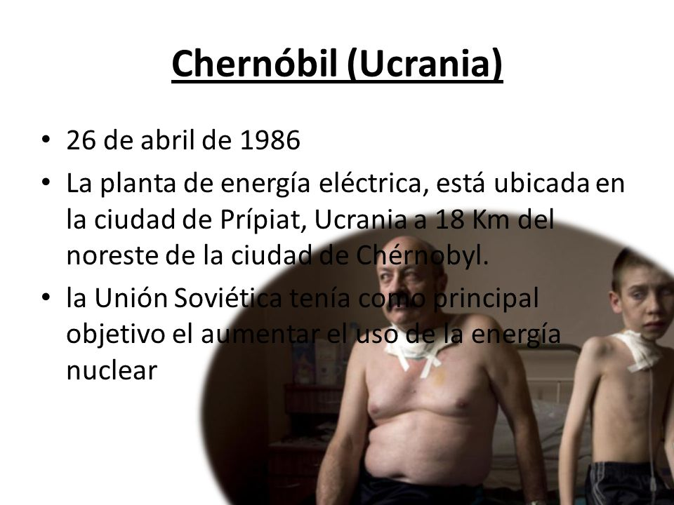 Chernóbil (Ucrania) 26 de abril de 1986