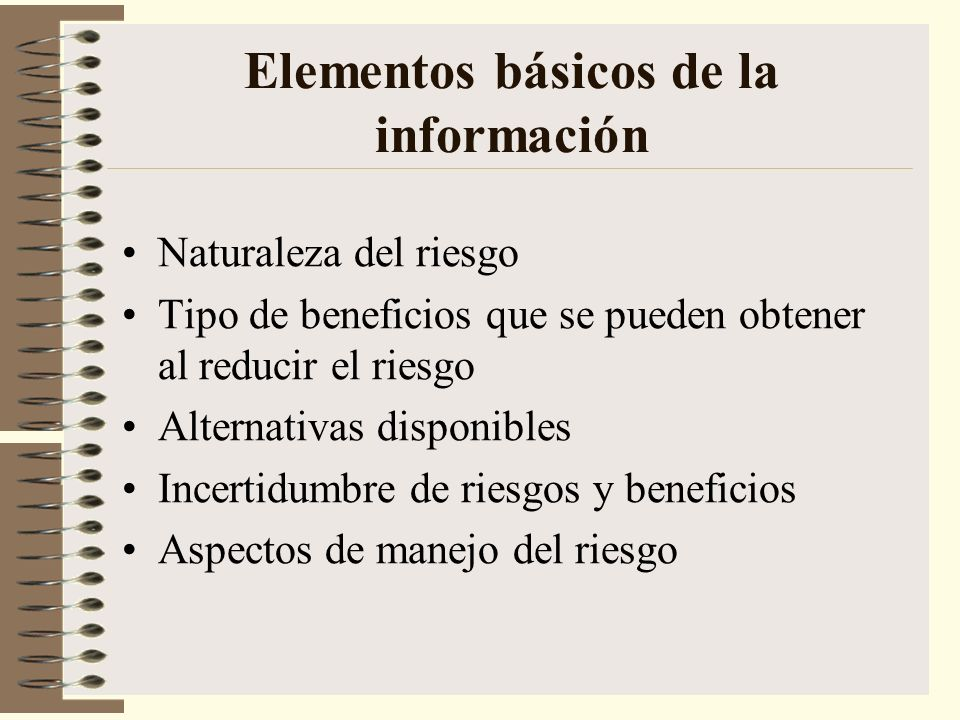 Elementos básicos de la información