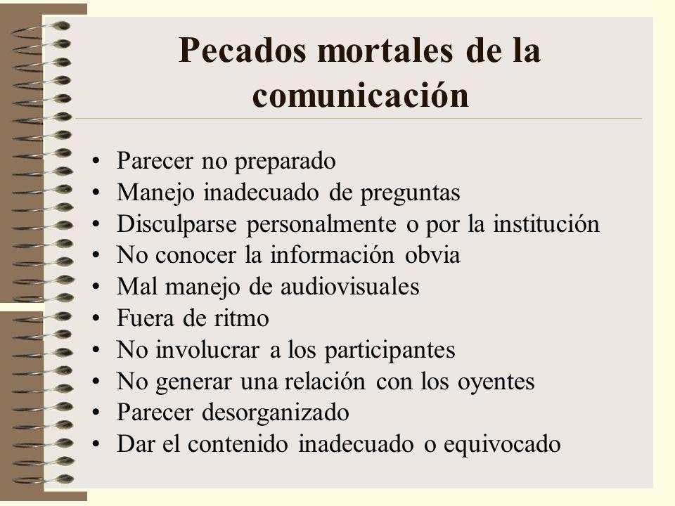 Pecados mortales de la comunicación