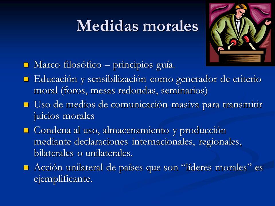 Medidas morales Marco filosófico – principios guía.