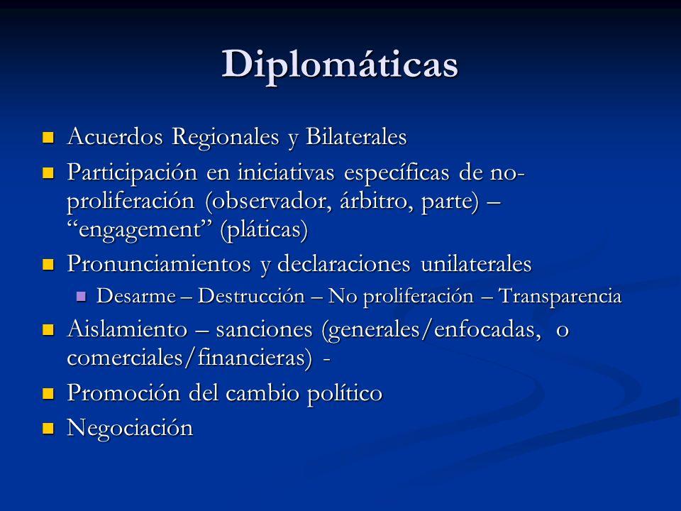 Diplomáticas Acuerdos Regionales y Bilaterales