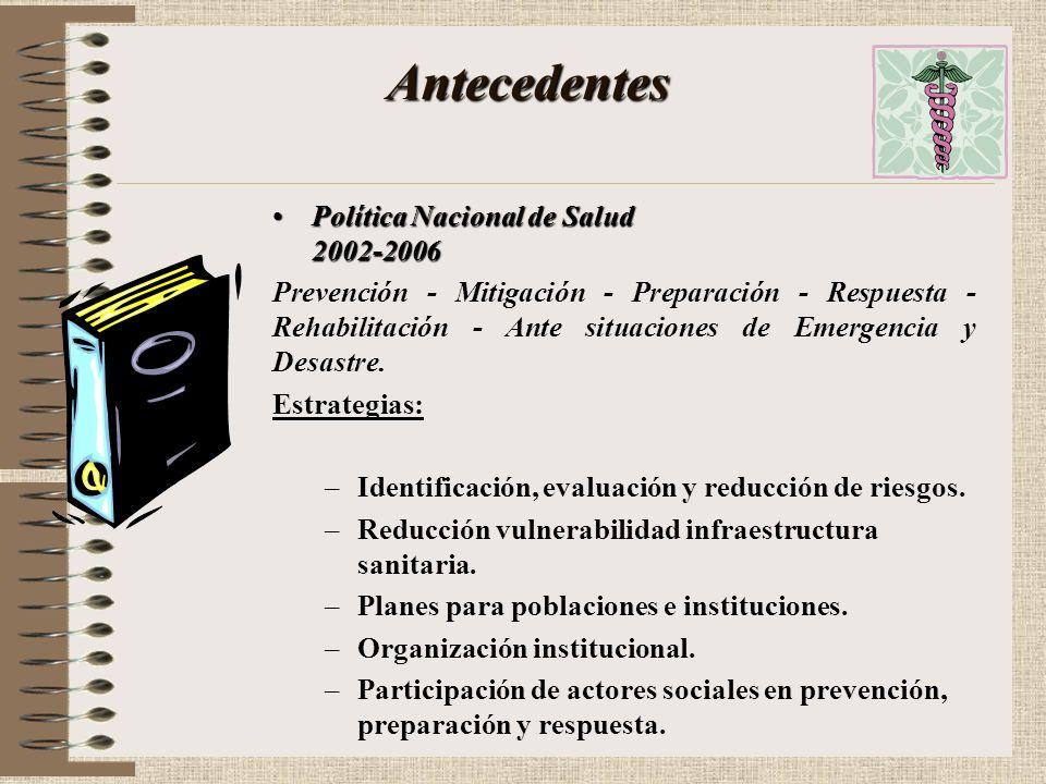 Antecedentes Política Nacional de Salud 2002-2006