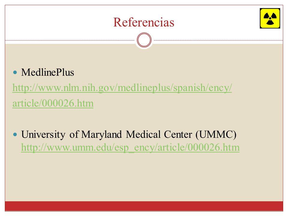 Referencias MedlinePlus