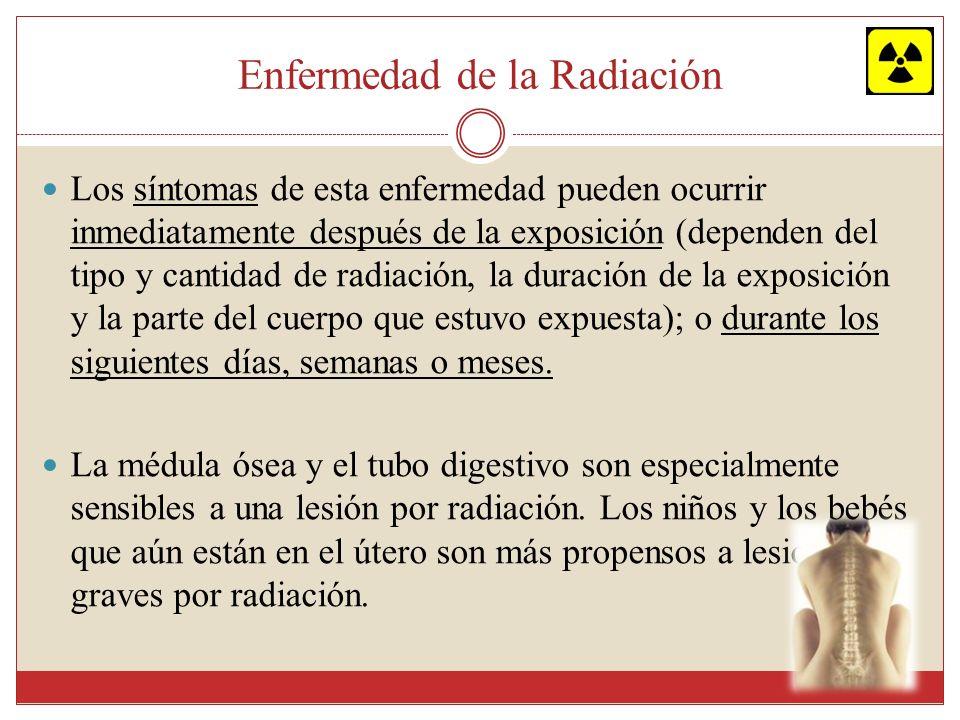 Enfermedad de la Radiación