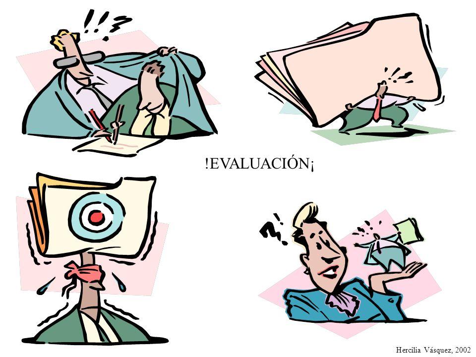 !EVALUACIÓN¡ Hercilia Vásquez, 2002