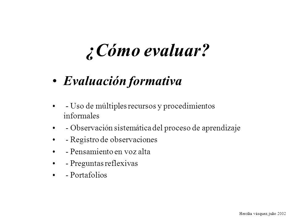 ¿Cómo evaluar Evaluación formativa