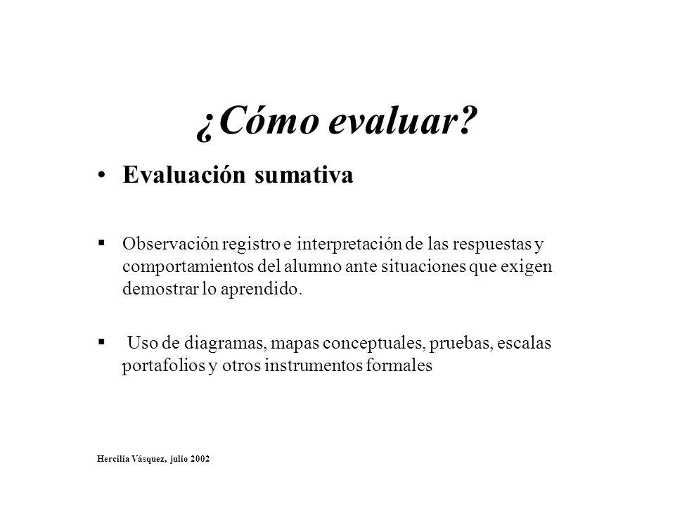 ¿Cómo evaluar Evaluación sumativa