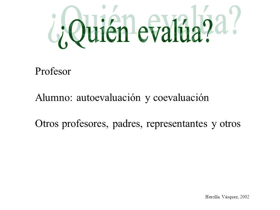 ¿Quién evalúa Profesor Alumno: autoevaluación y coevaluación