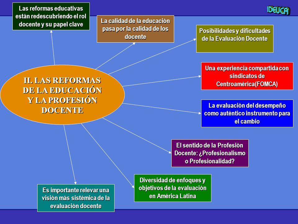 II. LAS REFORMAS DE LA EDUCACIÓN Y LA PROFESIÓN DOCENTE