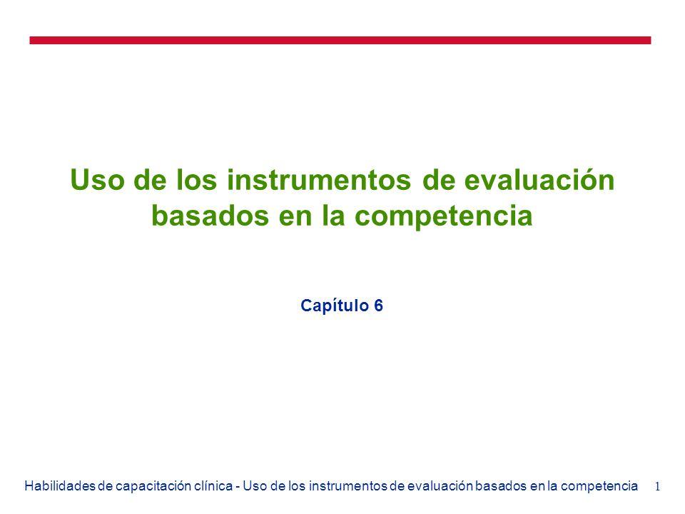 Uso de los instrumentos de evaluación basados en la competencia