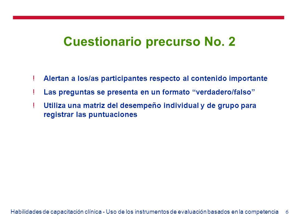 Cuestionario precurso No. 2