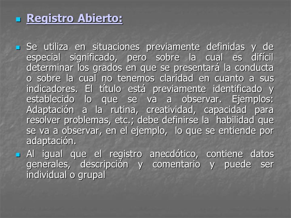 Registro Abierto: