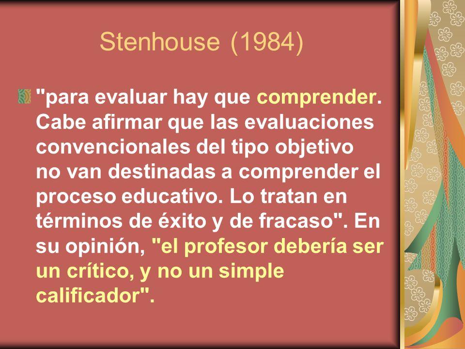 Stenhouse (1984)