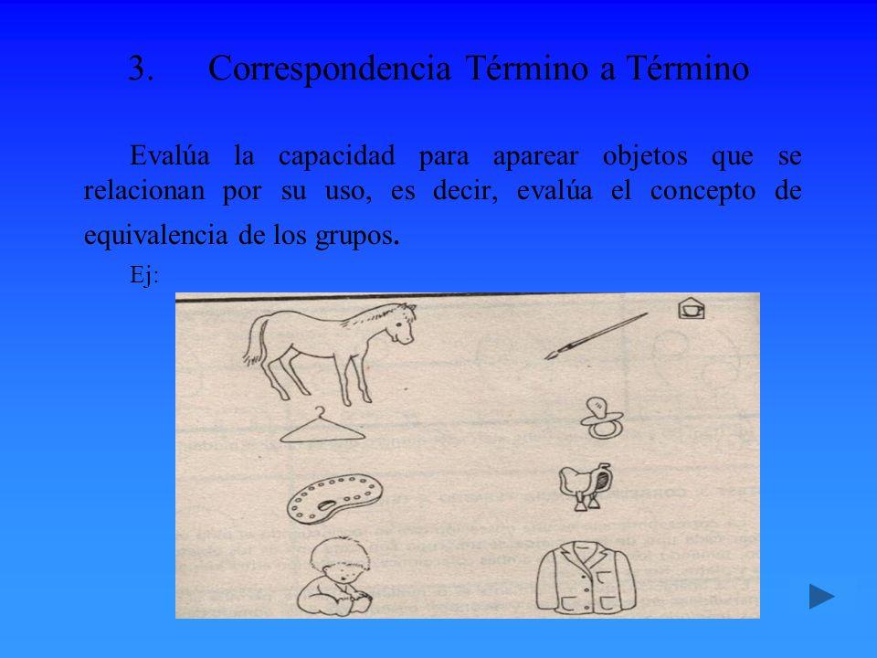 Correspondencia Término a Término