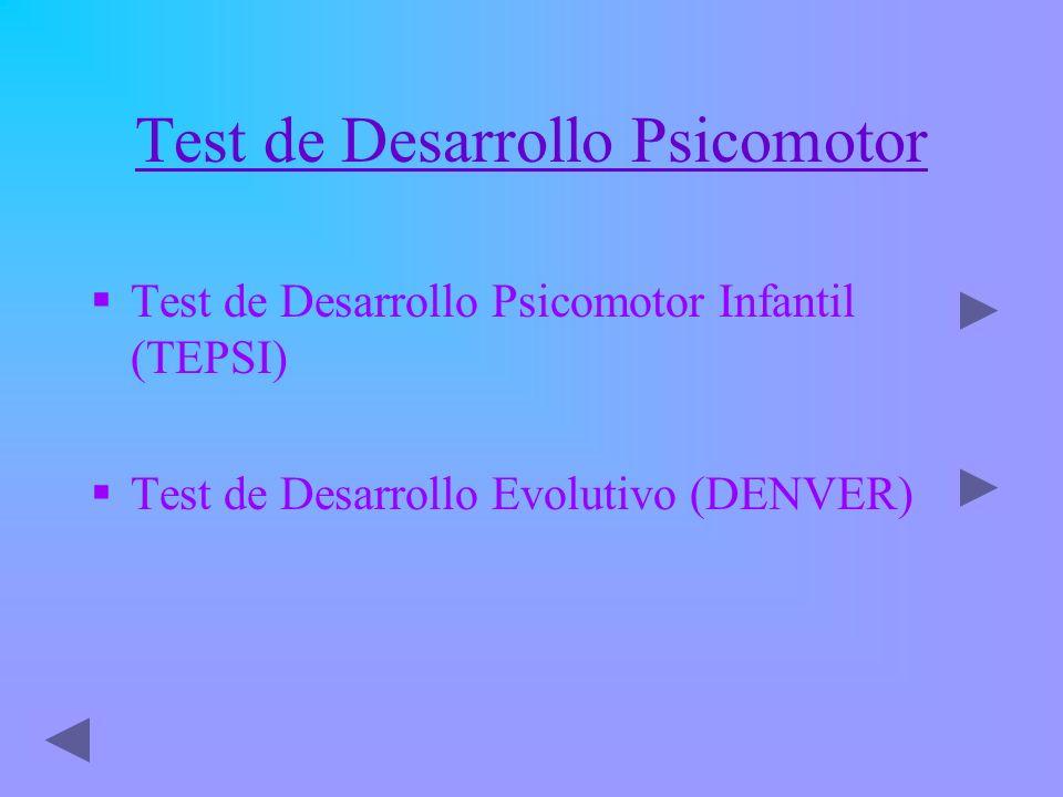 Test de Desarrollo Psicomotor