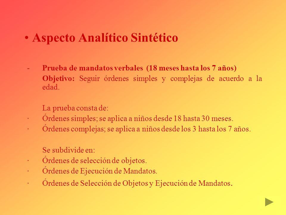 Aspecto Analítico Sintético