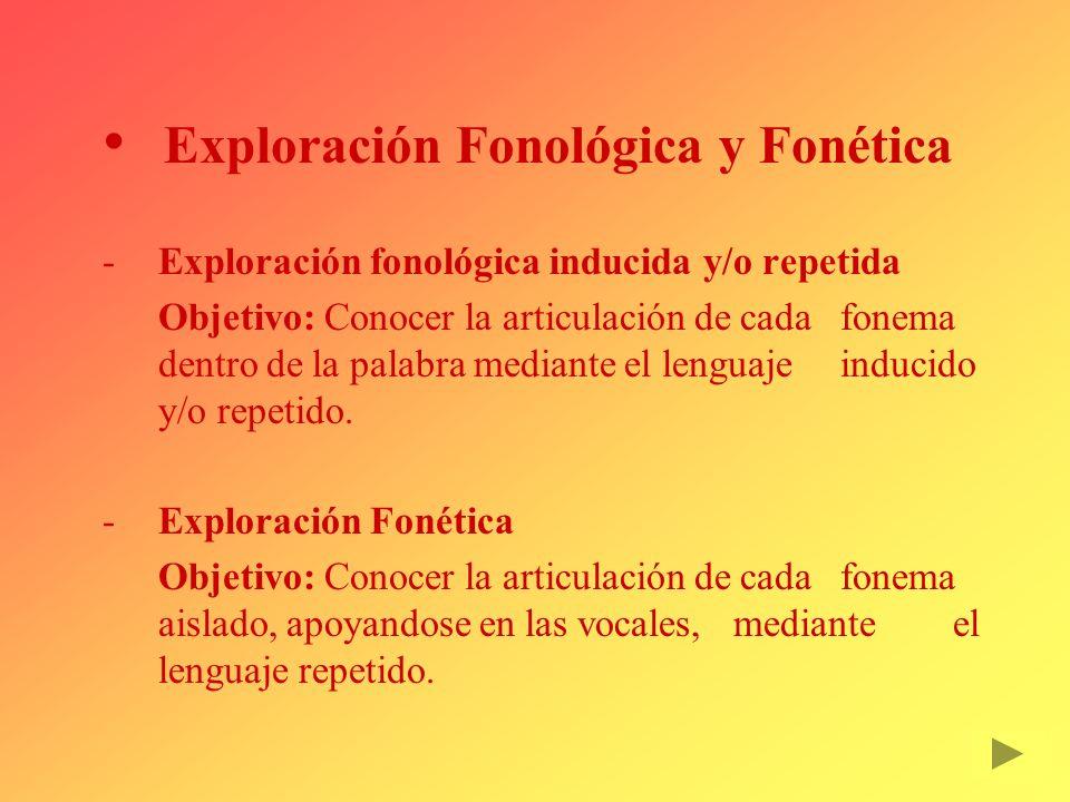 Exploración Fonológica y Fonética