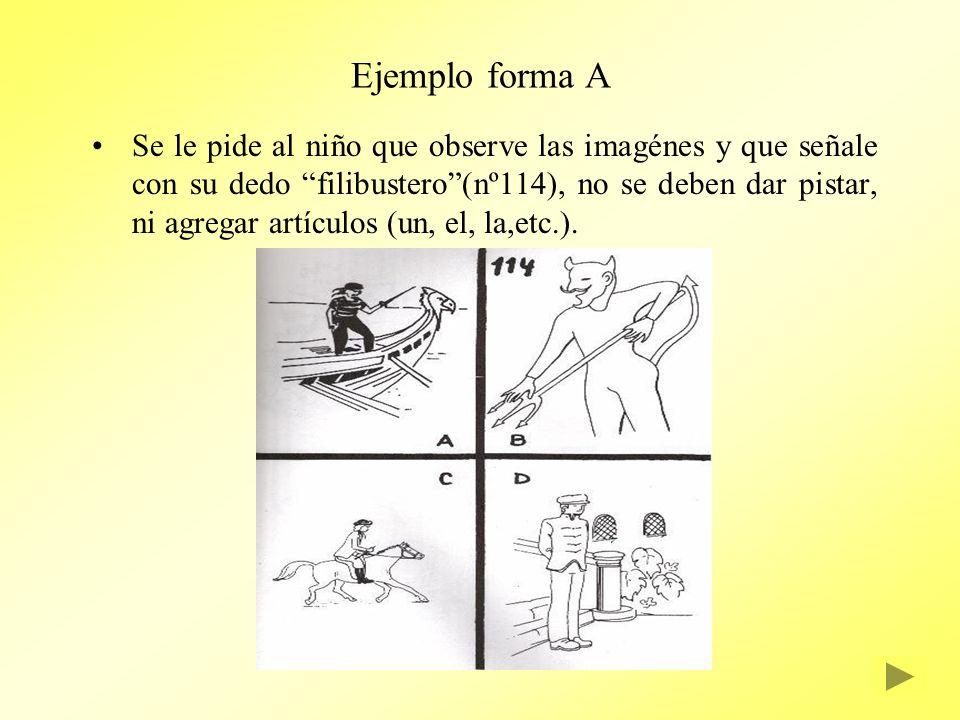Ejemplo forma A