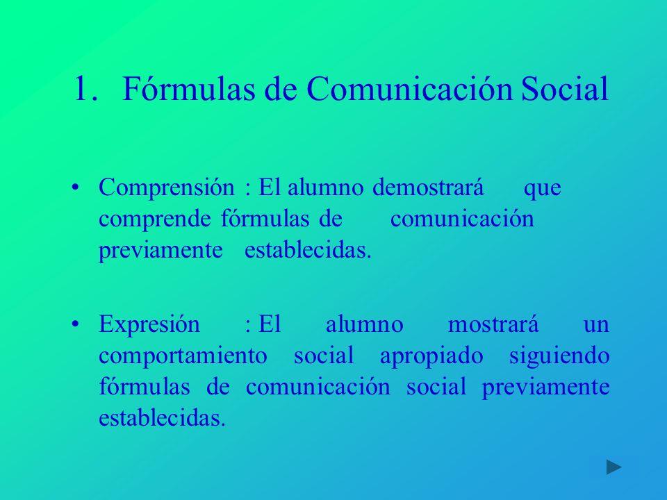 Fórmulas de Comunicación Social
