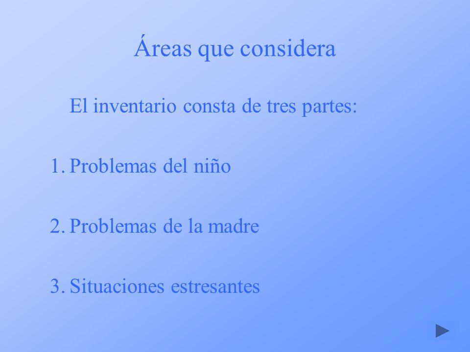 Áreas que considera El inventario consta de tres partes:
