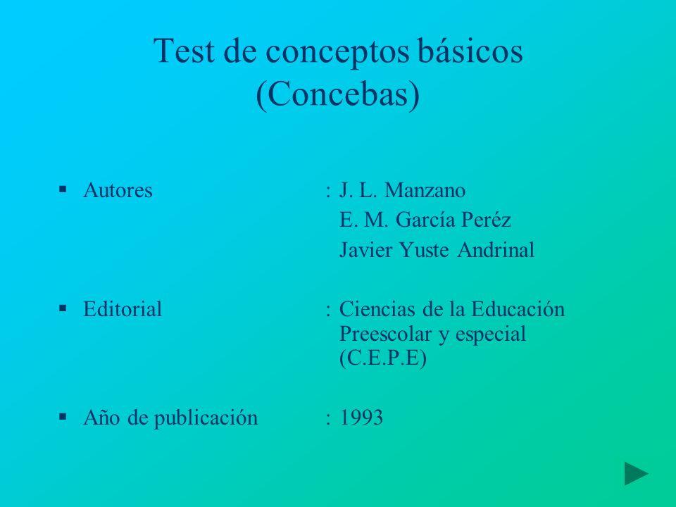 Test de conceptos básicos (Concebas)