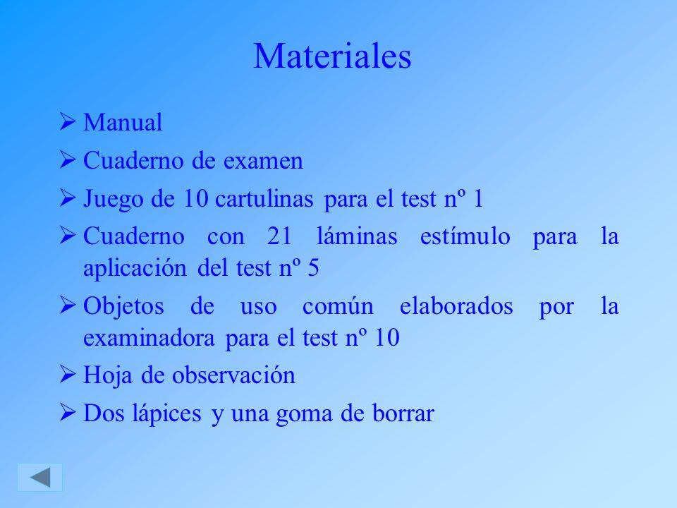 Materiales Manual Cuaderno de examen