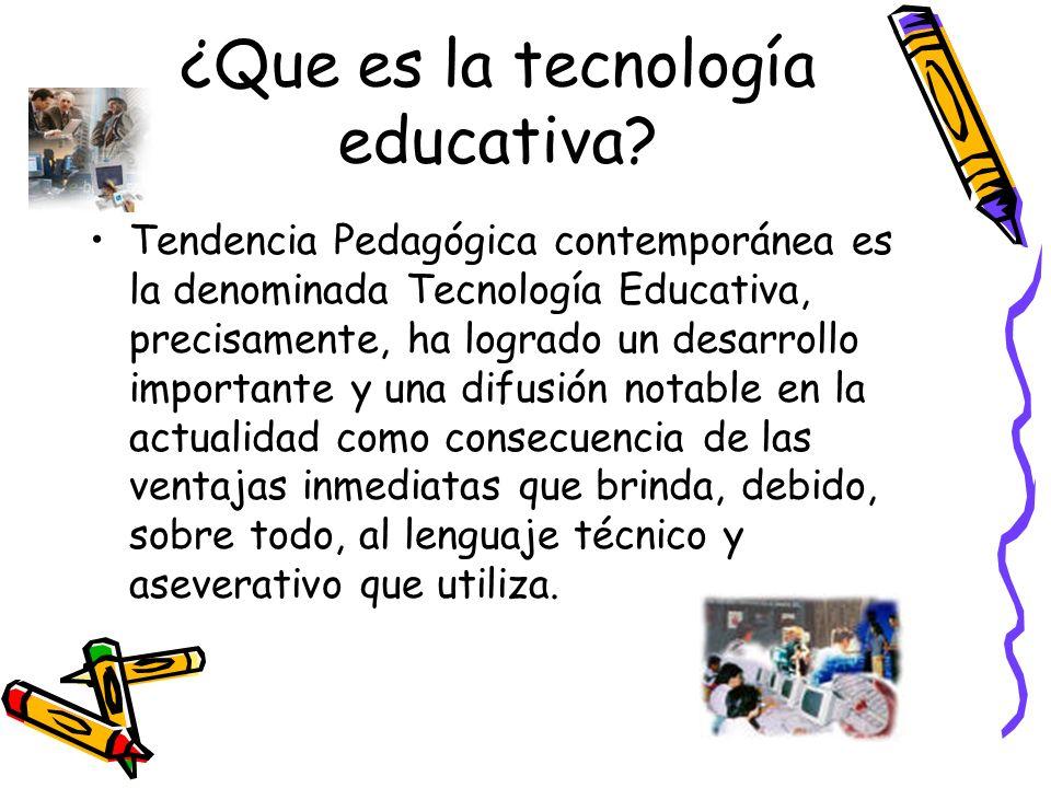 ¿Que es la tecnología educativa