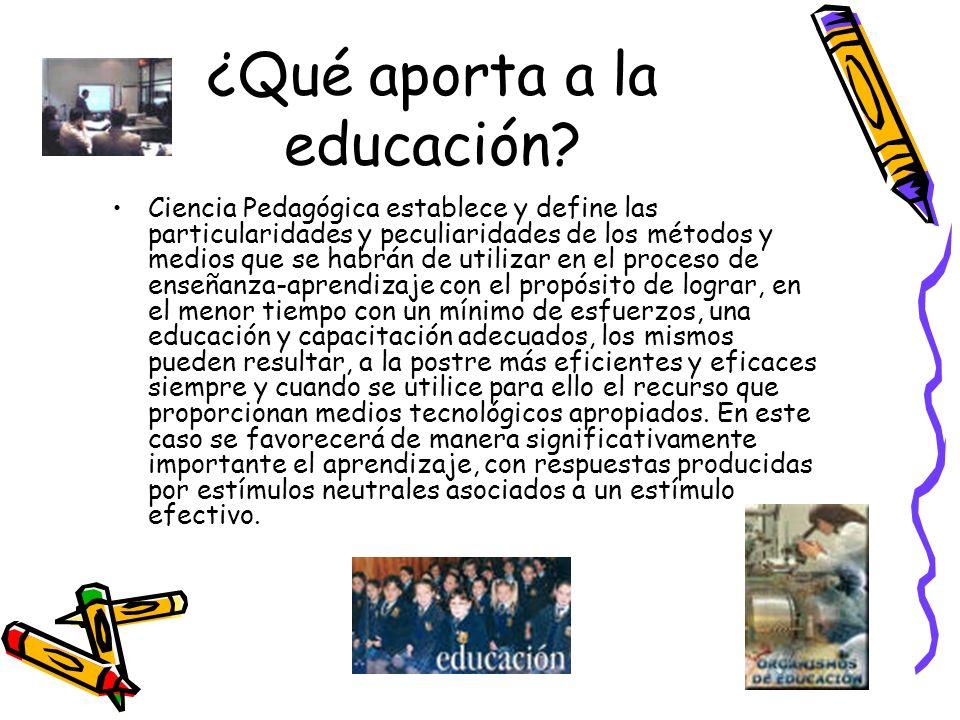 ¿Qué aporta a la educación