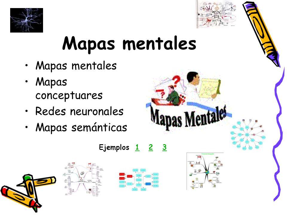 Mapas mentales Mapas mentales Mapas conceptuares Redes neuronales