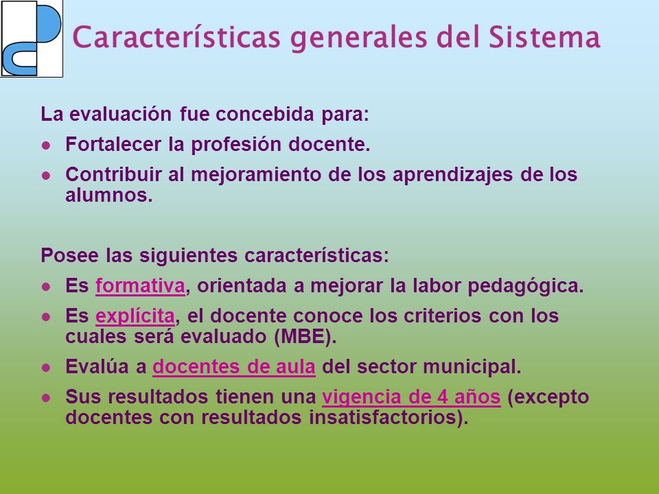 Características generales del Sistema