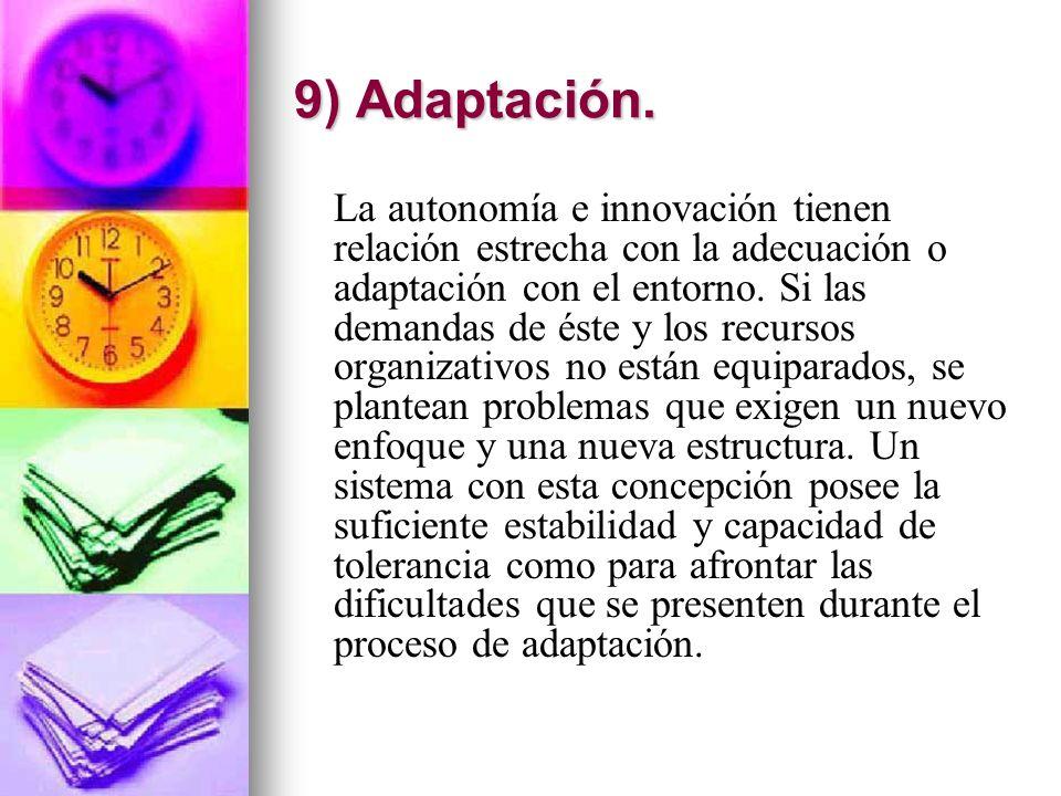 9) Adaptación.