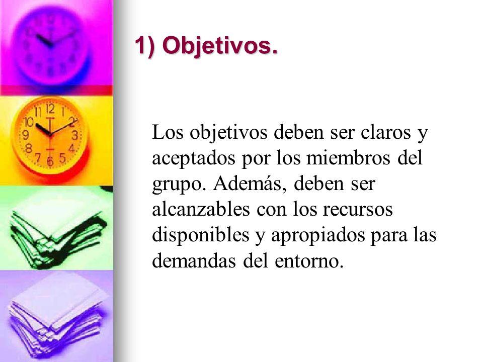 1) Objetivos.