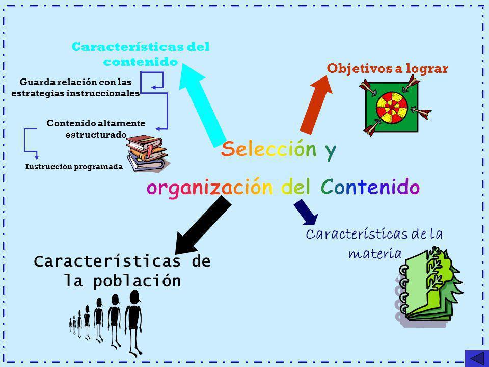 Selección y organización del Contenido