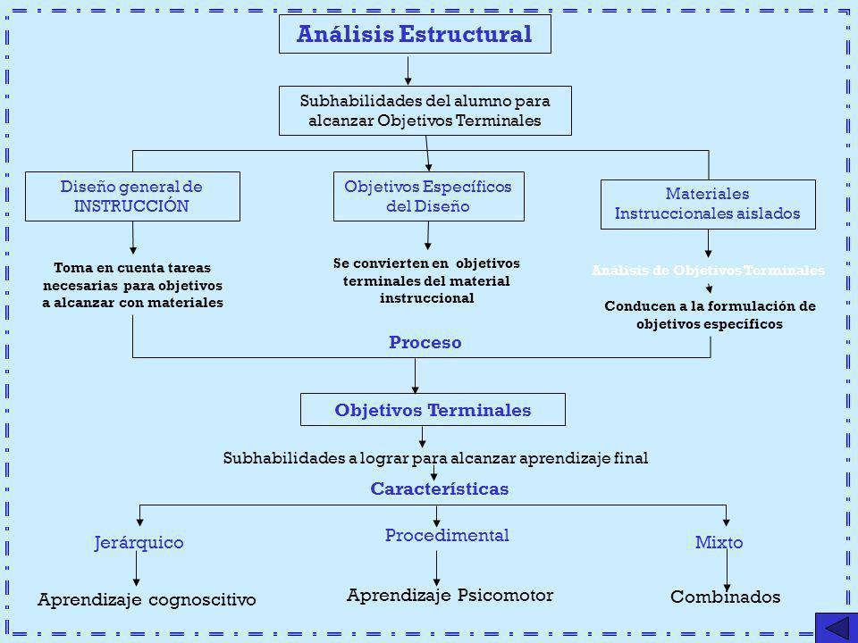 Análisis Estructural Proceso Objetivos Terminales Características