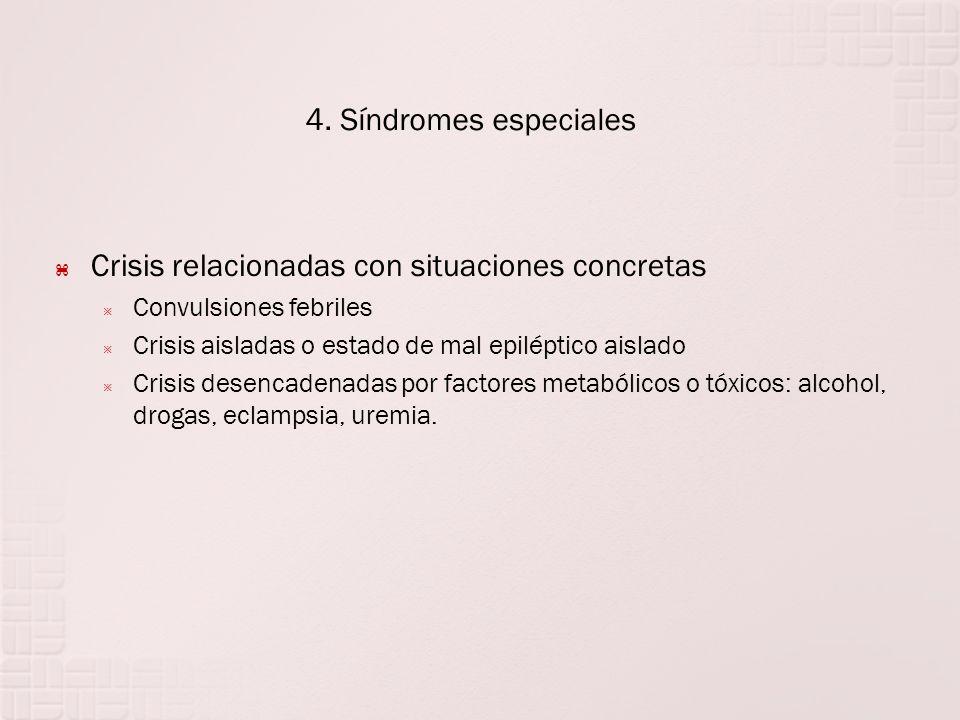 Crisis relacionadas con situaciones concretas