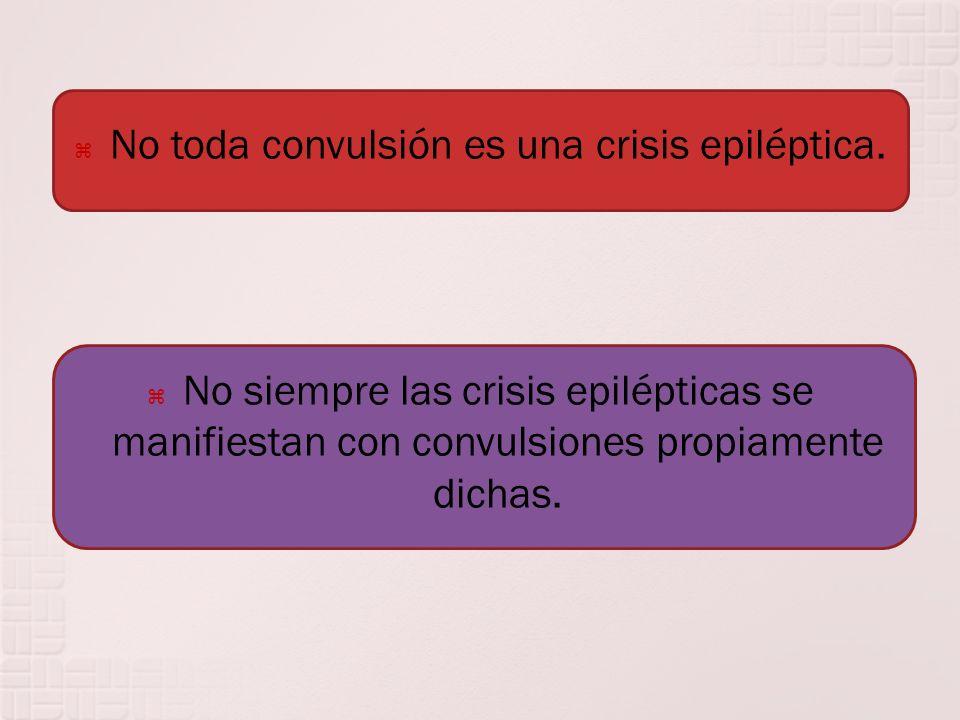 No toda convulsión es una crisis epiléptica.