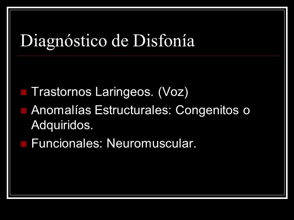 Diagnóstico de Disfonía