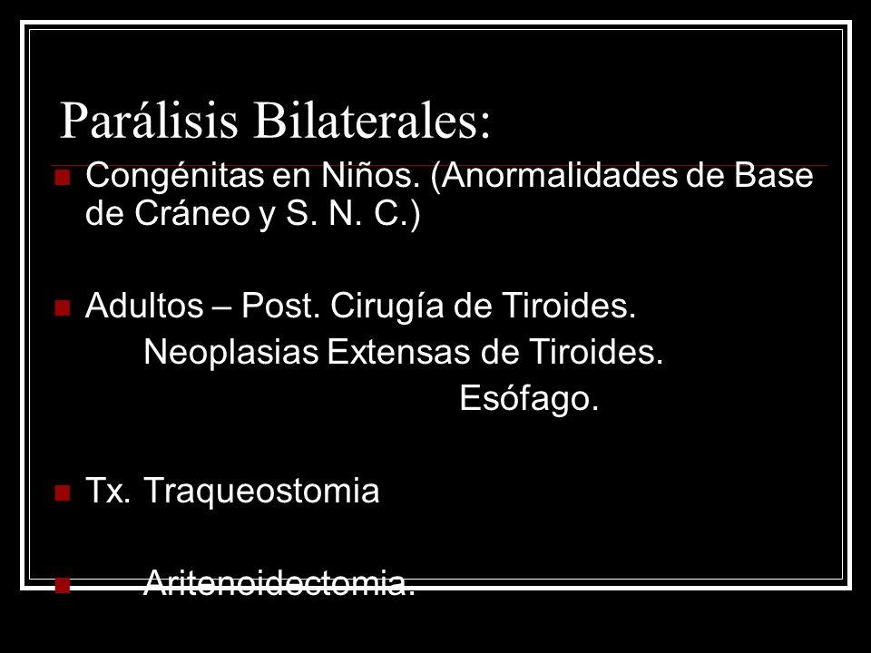 Parálisis Bilaterales: